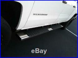 For 6 07-18 GMC Sierra Chevy Silverado Crew Cab Polish Side Step Running Boards