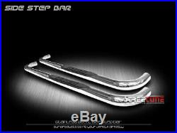 For 82-03 Chevy S10/Sonoma Ext Cab 3 Chrome Side Step Nerf Bars Running Boards