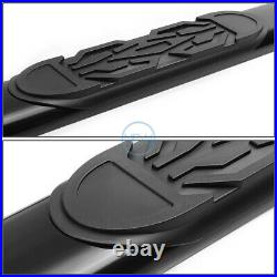 For 88-00 Chevy GMC C/K GMT400 Extended Cab 6 Black Oval Step Bar Running Board