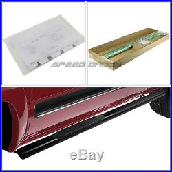For 88-00 Chevy/gmc C/k Ext Cab 4 Oval Black Side Step Nerf Bar Running Board