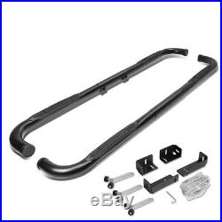 For 99-11 Chevy/Ram/GMC EXT/Crew Cab Black 3 Side Step Nerf Bar Running Board