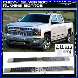 For 99-13 Chevy Silverado Ext Cab Nerf Bar Side Step SS Running Boards Chrome 6