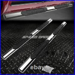 For 99-14 Gmc Sierra Crew Cab 4 Oval Chrome Side Step Nerf Bar Running Board