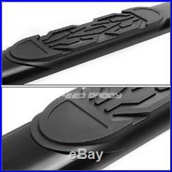 For 99-14 Gmc Sierra Crew Cab 6black Oval Side Step Nerf Bar Running Board/rail