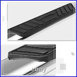 For 99-14 Silverado/Sierra Crew Oval 5 Side Step Nerf Bar Running Board Chrome