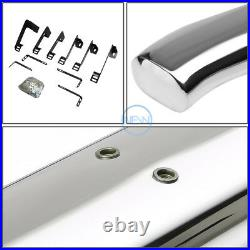 For 99-14 Silverado Sierra Extended Cab 4 SS Curved Oval Step Bar Running Board