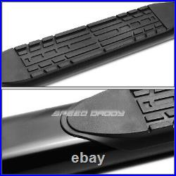 For 99-14 Silverado/sierra Ext 4 Black Curved Oval Step Nerf Bar Running Board