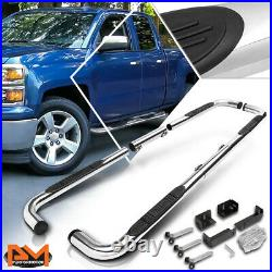 For 99-16 Chevy/GMC/Ram Truck Ext/Crew Cab 3 Step Nerf Bar Running Board Chrome
