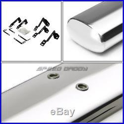 For 99-16 Silverado/sierra Ext 6chrome Oval Side Step Nerf Bar Running Board