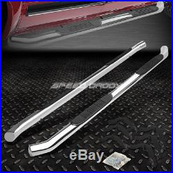 For 99-16 Silverado/sierra Ext Cab Chrome 3 Side Step Nerf Bar Running Board