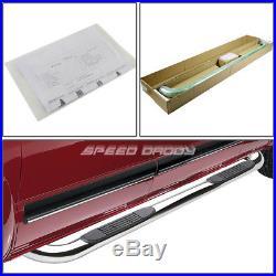 For 99-16 Silverado/sierra Ext Cab Chrome Ss 3 Side Step Nerf Bar Running Board