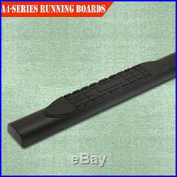 For 99-18 Chevy Silverado Crew Cab 4 Running Boards Side Step Nerf Bar Black A
