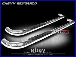 For 99-18 Silverado 1500 2500 Reg Cab 3 Chrome Side Step Nerf Bar Running Board