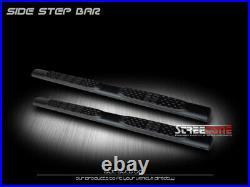 For 99-18 Silverado/Sierra Ext Cab 5 Matte Blk Side Step Nerf Bar Running Board