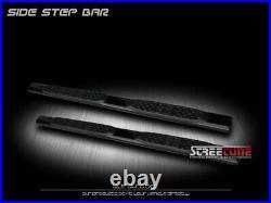 For 99-18 Silverado/Sierra Ext Cab 5 Tube Blk Side Step Nerf Bar Running Board