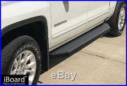 IBoard Black Running Boards Style Fit 07-18 Chevy Silverado/GMC Sierra Crew Cab