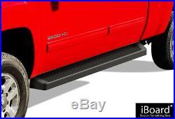 IBoard Black Running Boards Style Fit 07-18 Chevy Silverado GMC Sierra Crew Cab