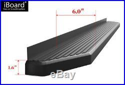 IBoard Black Running Boards Style Fit 07-18 Silverado Sierra Double Cab