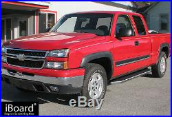 IBoard Polished Running Boards Style Fit 99-07 Silverado Sierra Extended Cab