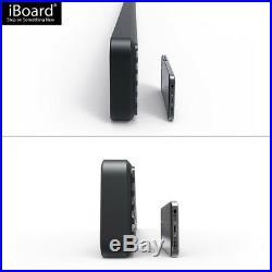 IBoard Running Boards 4-inch Matte Black Fit 07-18 Silverado Sierra Regular Cab
