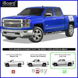 IBoard Running Boards 4 inches Fit 07-18 Chevy Silverado GMC Sierra Crew Cab