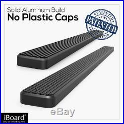 IBoard Running Boards 4in Black Fit 00-20 Chevy Avalanche Suburban GMC Yukon XL