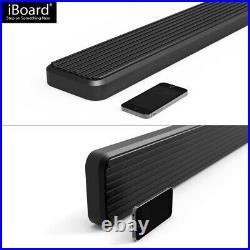 IBoard Running Boards 5-inch Black Fit 19-21 Chevy Silverado GMC Sierra Crew Cab