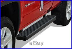IBoard Running Boards 5-inch Matte Black Fit 99-16 Silverado Sierra Regular Cab