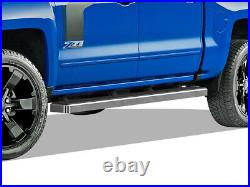 IBoard Running Boards 5 inches Fit 07-18 Chevy Silverado GMC Sierra Crew Cab