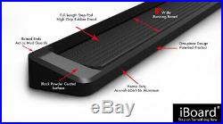 IBoard Running Boards 6 Matte Black Fit 10-17 Chevy/GMC Equinox/Terrain