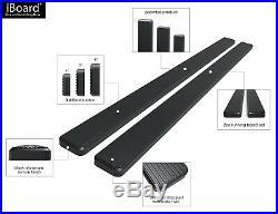 IBoard Running Boards 6-inch Black Fit 07-18 Chevy Silverado GMC Sierra Crew Cab