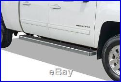 IBoard Running Boards 6 inches Fit 07-18 Chevy Silverado GMC Sierra Crew Cab