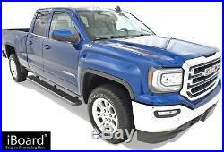 IBoard Running Boards 6 inches Fit 07-18 Silverado Sierra Double Cab