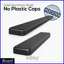 IBoard Running Boards 6 inches Matte Black Fit 03-20 Chevy Express GMC Savana
