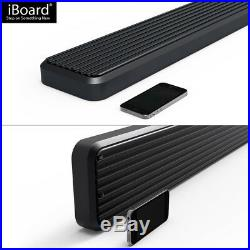 IBoard Running Boards 6 inches Matte Black Fit 07-18 Silverado Sierra Double Cab