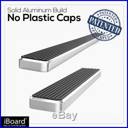 IBoard Running Boards 6 inches Silver Fit 03-20 Chevy Express GMC Savana