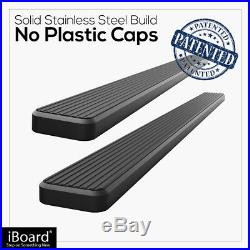 IBoard Stainless Steel 5 Running Boards Fit 07-18 Silverado/Sierra Double Cab