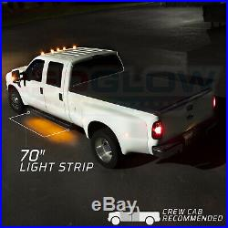 LEDGlow 2pc 70 Amber Side Marker Running Board with White LED Lighting Kit