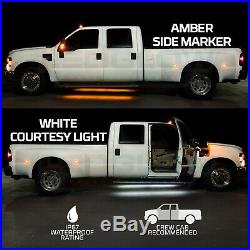 LEDGlow 2pc 70 Amber Side Marker & White Courtesy Running Board LED Lights