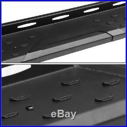 Matte Black 5.5side Step Bar Running Board For 07-17 Chevy Silverado Crew Cab