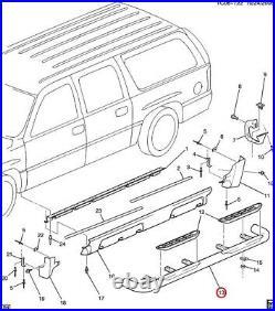 NEW OEM GM Running Board Step Right 15766083 Chevy Suburban GMC Yukon 2001-2006