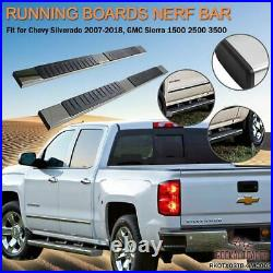Nerf Bars Fits 2007-2018 Chevy Silverado GMC Sierra Running Board Side Step Rail