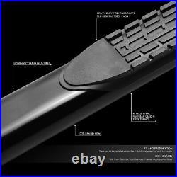Pair 4 Od Oval Step Bar Running Board For 19-20 Silverado Sierra Extended Cab