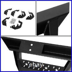 Pair Running Board Triangle Step Nerf Bar For 07-19 Silverado Sierra Extended