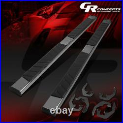 Pair Stainless Step Bar Running Boards For 07-19 Sierra Silverado Extended Cab