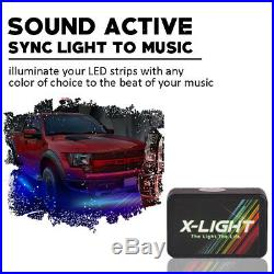 RGB Running Board LED Light Strip Side Step For Chevy Dodge GMC Jeeps SUV Truck