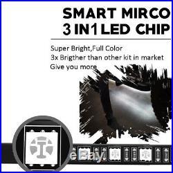 Running Board Side Step LED Light Bar Kit for Chevy Dodge GMC Ford Trucks & SUVs