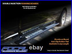 Running board side step Bar for 07-18 Chevrolet Silverado, GMC Sierra Crew Cab