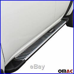 Side Step Running Boards Silver Aluminum Fits Chevrolet Captiva Sport 2012-2015
