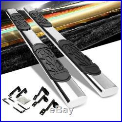 Silver Straight 6 Wide Step Running Board For 01-16 Chevrolet Silverado Crew